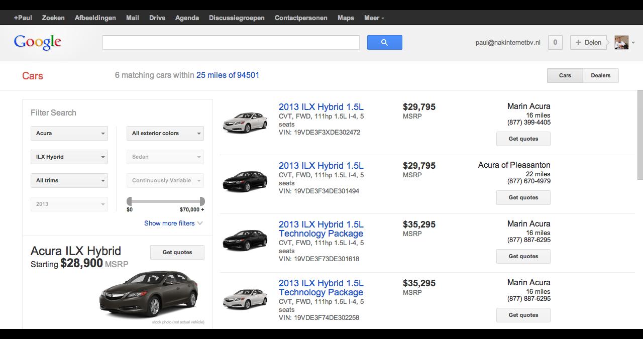 Nederland en Google Cars