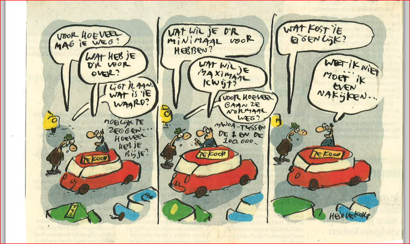 Leuke strip over de autoverkoop!