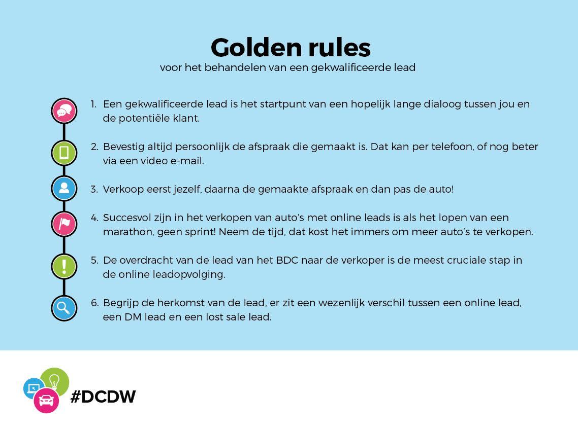 53 Golden Rules BDC opvolging