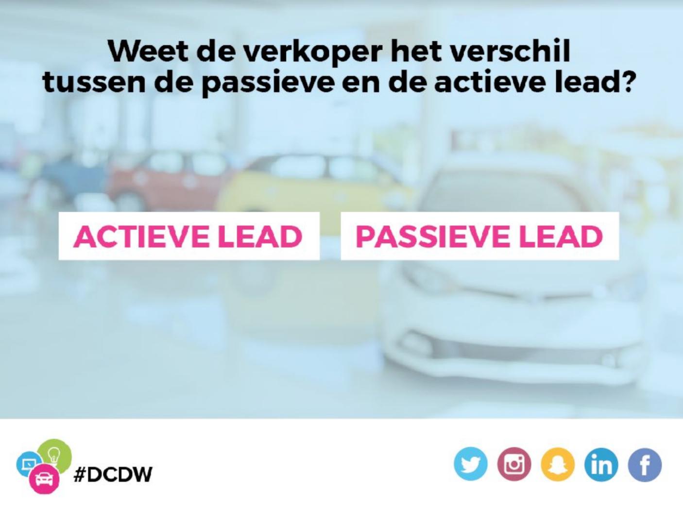 Actieve en passieve leads