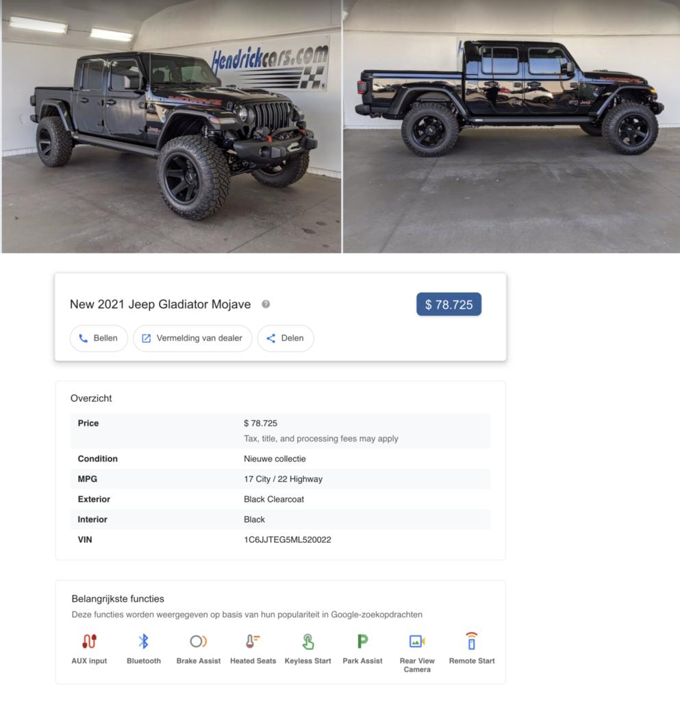 Betaversie Jeep